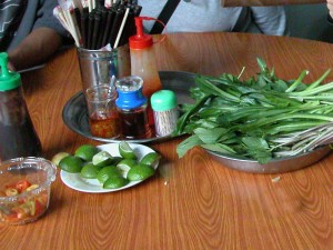 Pho Hoa Pasteur Saigon garnishes
