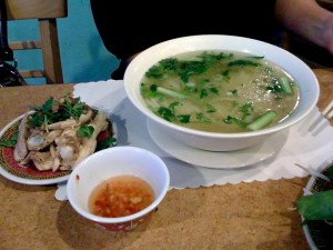 Pho Vie II pho ga (chicken pho)