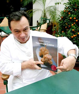 Chef Didier Corlou with award winning book Ma Cuisine du Vietnam