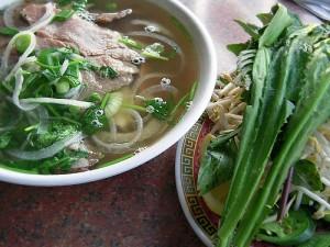 Pho Hoa's pho bo (beef pho)