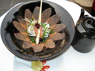 Chef Corlou's Pho with salmon