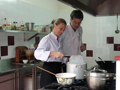 Chef Corlou's cooking class-making banh cuon