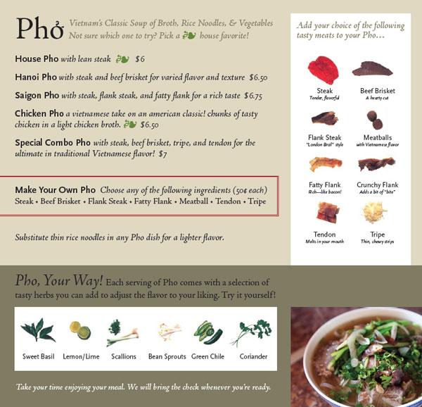 David Mcgaw repaired pho menu