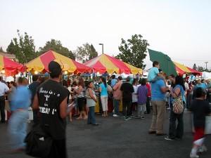 Festival goers at St Barbara Parish Fall Festival