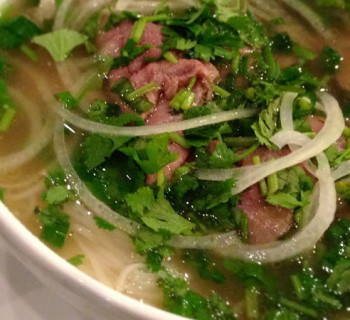 Pho and garnish