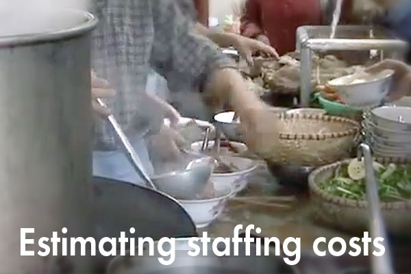 Estimating staffing costs