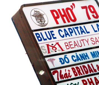 Pho 79 sign closeup