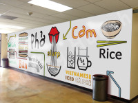 Pho Restaurant Mural Design Mockup 4