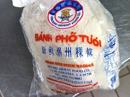 Fresh banh pho noodle Sincere Orient