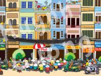 Large Wall Mural: Saigon Street Food Scene (36 Feet Wide x 10 Feet Tall)