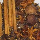 Spices used on making pho broth: star anise, cinnamon sticks, coriander seeds, cardamom, cloves