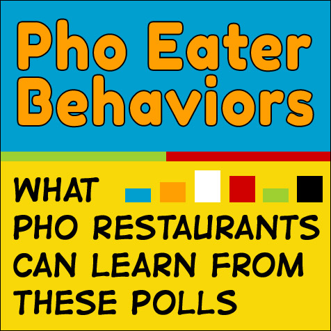 Pho Eater Behaviors - What Pho Restaurants Can Learn From These Polls