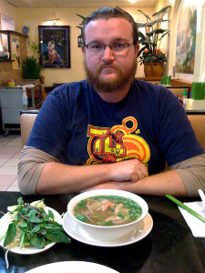 Mason with his pho tai