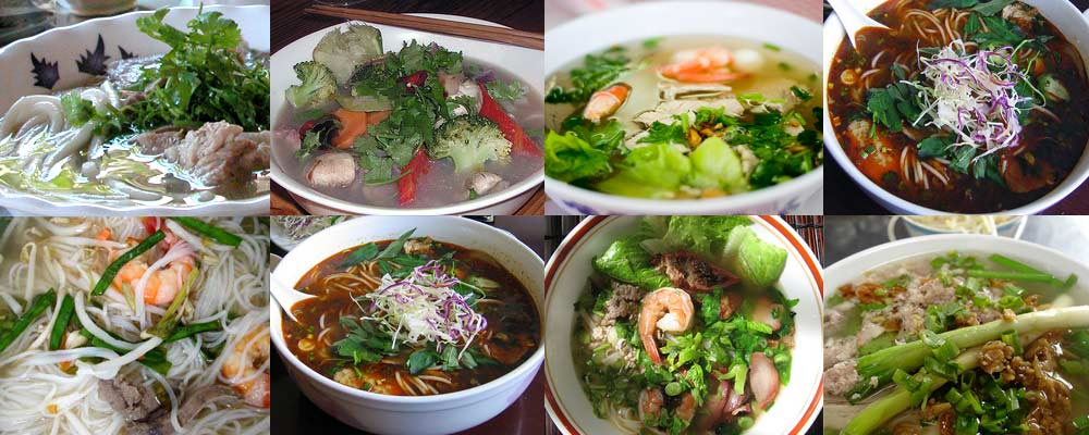 These are not pho. They're hu tieu (same noodle as pho), and bun bo Hue.