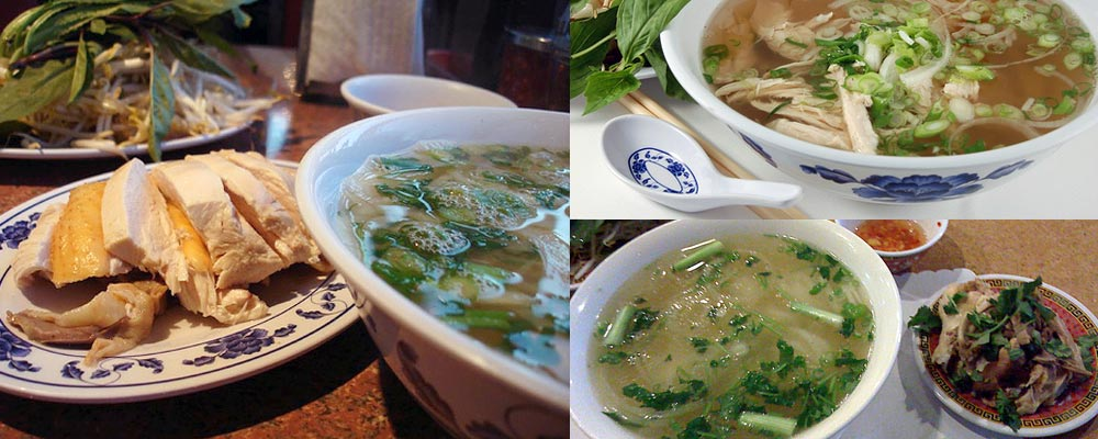 These are pho ga (chicken pho), side chicken optional