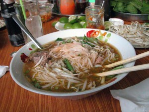 Pho Hoa Pasteur Saigon bowl of pho bo