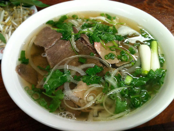 Clear pho broth