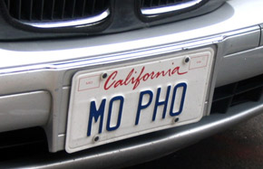 Mo Pho license plate sighted in San Francisco.