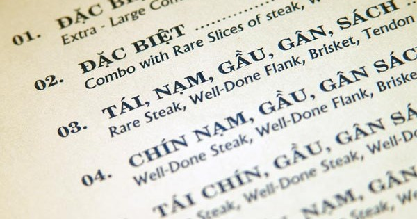 Understanding the Pho Menu: No More Ordering Pho by the Numbers