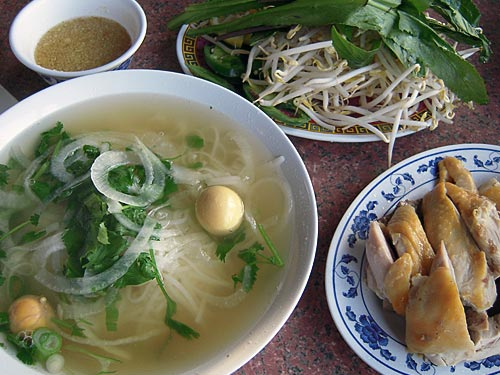 Pho Ga With Side Chicken and Unlaid Eggs - LovingPho com