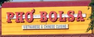 Pho Bolsa sign
