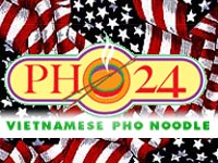 Pho 24 with US flag