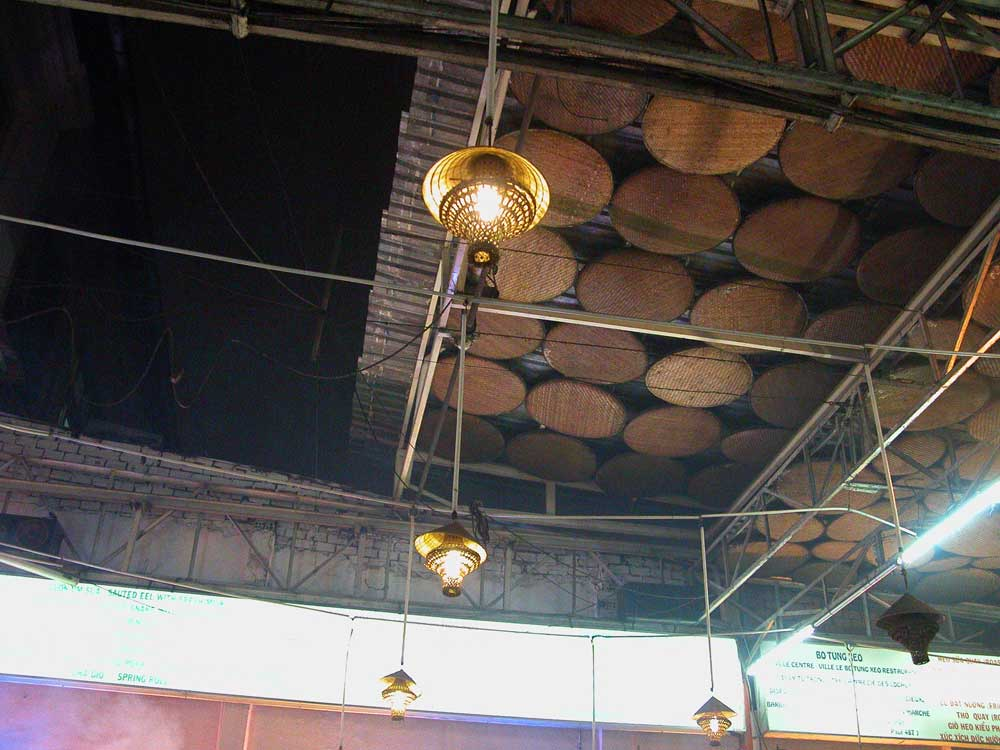 Opening ceiling/roof at Luong Son Quan Bo Tung Xeo, Saigon