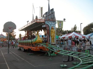 Dragon wagon ride at St Barbara Parish Fall Festival