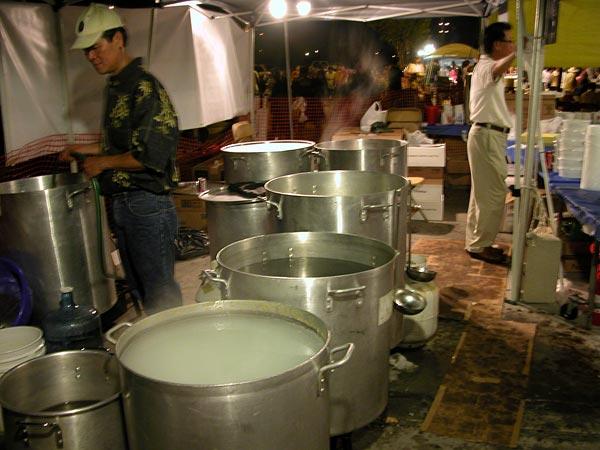 Pho vats at St Barbara Parish Fall Festival