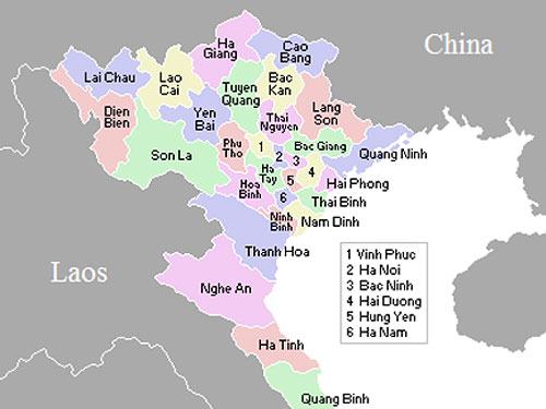 Nam Dinh Province - click to enlarge