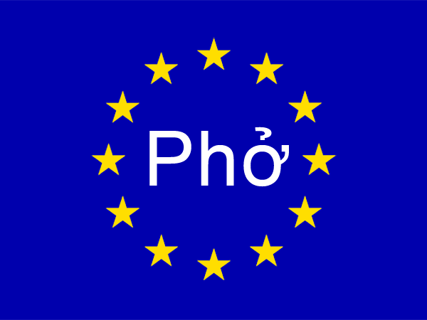 Pho and European Union flag