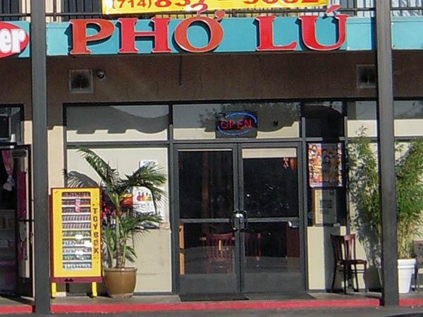 Pho Lu front entrance