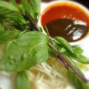 Pho garnish and dipping sauce
