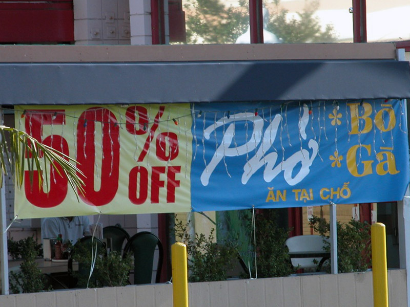 50 percent off pho