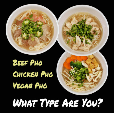 Beef pho, chicken pho, vegan pho: what pho type are you?
