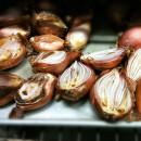 Roasted shallots