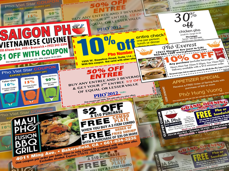 Online Coupons And Offers What S In It For Pho Restaurants Lovingpho Com Lovingpho Com