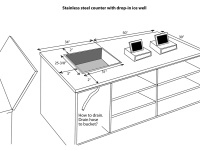 Conceptual Design of Front Counter With POS and Cold Beverage Well