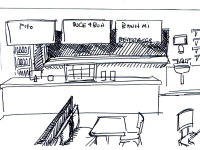 Conceptual Design of Order Counter - Front View