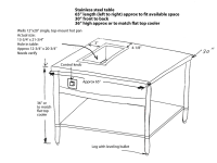 Steam Table Design Drawing For Fabrication