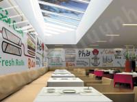 Pho Restaurant Mural Mockup 3