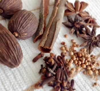 5 spices used in making pho broth: Cardamom, cinnamon, star anise, coriander seeds, cloves