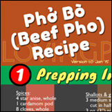 Beef Pho Recipe Infographic By Lovingpho