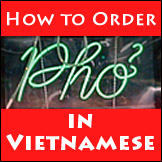 How to order pho in Vietnamese