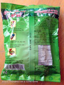 Binh Tay Pho Chay La Bo De Banh pho package-back